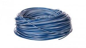 Przewód instalacyjny H05V-K 0,5 ciemnoniebieski z białym paskiem 4510921 /100m/