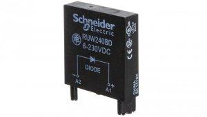 Moduł zabezpieczeniowy dioda 6- 250V AC/DC do gniazda mocy RPZ RUW240BD