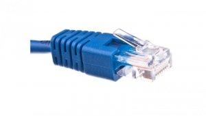 Kabel krosowy patchcord U/UTP kat.5E niebieski 2m
