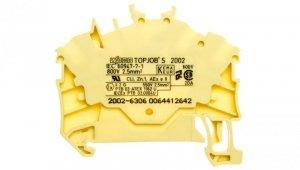 Złączka szynowa 3-przewodowa 2,5mm2 żółta TOPJOBS 2002-6306