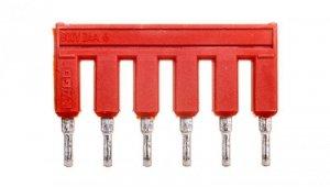Mostek grzebieniowy 6-torowy czerwony TOPJOBS 2002-406/000-005