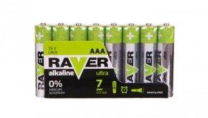 Bateria alkaliczna LR03 / AAA 1,5V RAVER ULTRA B79118 /opakowanie 8szt./