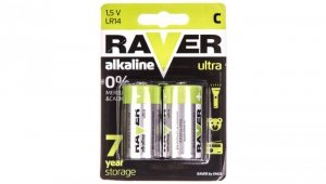 Bateria alkaliczna LR14 / C 1,5V RAVER ULTRA B7931 /blister 2szt./