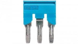 Mostek wtykany 3-biegunowy 8,2mm niebieski FBS 3-8 BU 3032570 /10szt./