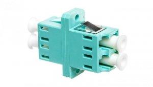 Adapter LC/LC duplex MM OM3, ceramiczna ferrula, błękitny DN-96009-1