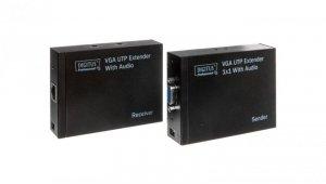Przedłużacz/extender VGA 1920x1200 po skrętce kat.5e UTP, do 300m z audio /miniJack/ DS-53400