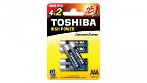 Bateria alkaliczna LR03 / AAA 1,5V HIGH POWER LR03GCNP BP6 2F /blister 4+2szt./