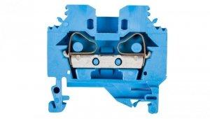 Złączka szynowa 2-przewodowa 6mm2 niebieska 282-104