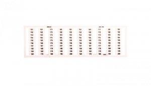 Ramka z oznacznikami 2x 151-200 209-709