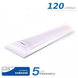 Oprawa V-TAC 40W LED Liniowa Natynkowa SAMSUNG CHIP 120cm 120lm/W VT-8-40 6400K 4800lm 5 Lat Gwarancji