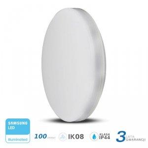 Plafon Natynkowy Okrągły V-TAC 15W LED SAMSUNG CHIP IP44 100lm/W VT-8033 4000K 1500lm 3 Lata Gwarancji