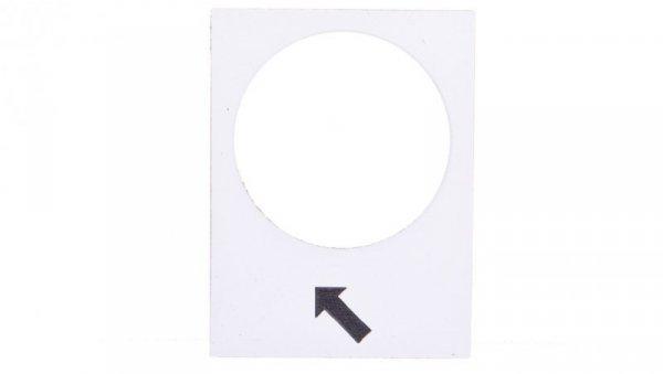 Tabliczka opisowa biała prostokątna 30x40mm PODNOSZENIE WOLNO ZB2BY4913