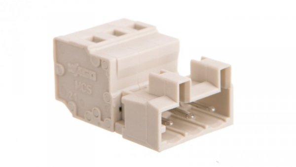 Wtyk MCS-MIDI Classic 3-biegunowy jasnoszary raster 5mm 721-603 /100szt./