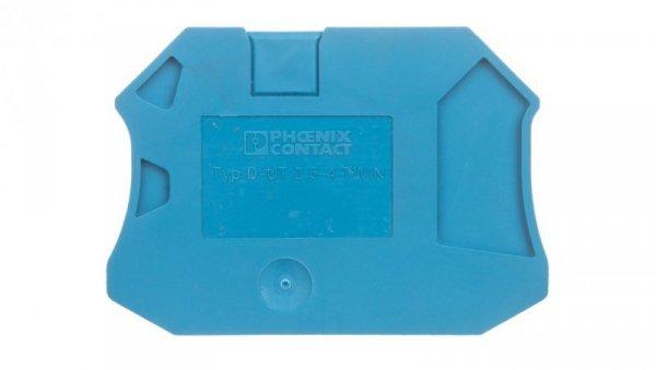 Pokrywa zamykająca niebieska D-UT 2,5/4-TWIN BU 3047142 /50szt./