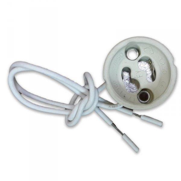 Oprawka Ceramiczna Gniazdo GU10 Przewód Siliconowy V-TAC VT-7888