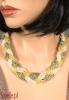 WINDO elegancka kolia pleciona jasne złoto