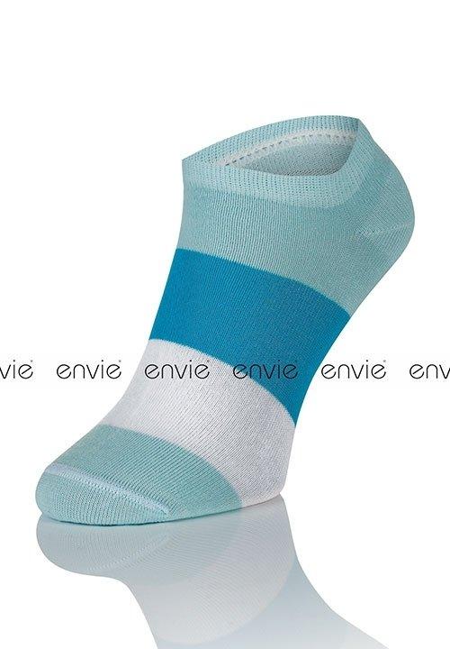 ENVIE MULTI DF02 BLUE niebieskie stopki - zakostki z bawełną