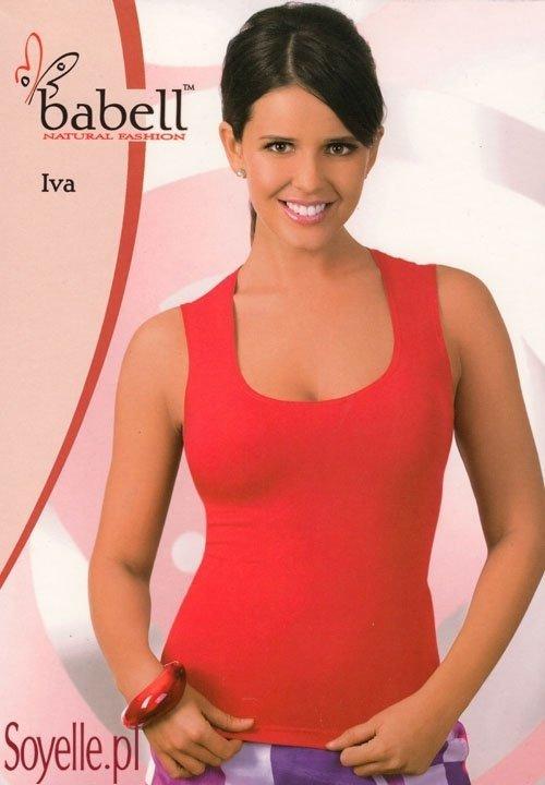 IVA bluzeczka na szerokich ramiączkach, wiskoza, czarna, biała, rubinowa, miodowa, szmaragdowa, fuksja, cappucino, naturalny beż