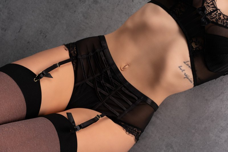 Angsona majtki z paskami do pończoch rozmiar - L/XL