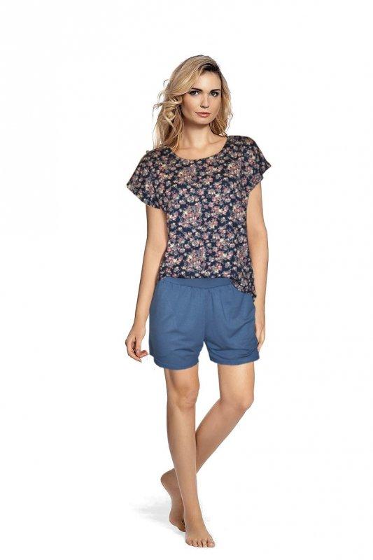 Piżama De Lafense 467 Mia S-2XL koszulka i spodenki