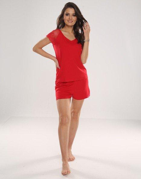Piżama De Lafense 625 Dagmara kr/r S-2XL