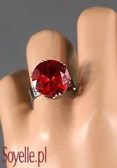 DIAMENT P3 pierścionek z oczkiem czerwonym, brązowym
