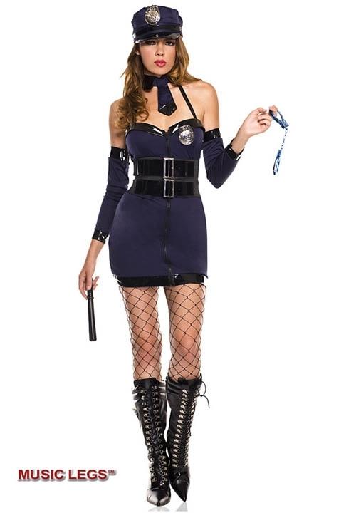 SEXY POLICE WOMAN kostium zmysłowej policjantki - 8 elementów