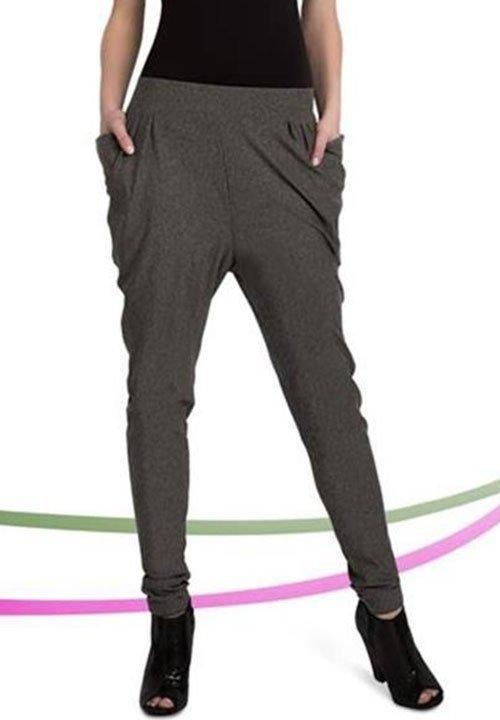 NICOLE PANTS szare spodnie o luźnym fasonie