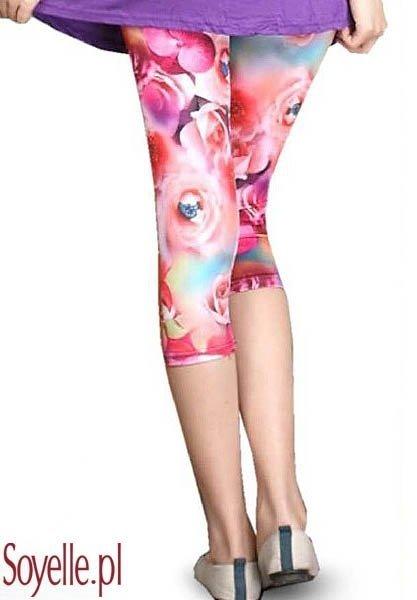 SUELO krótkie legginsy w kwiatowe wzory