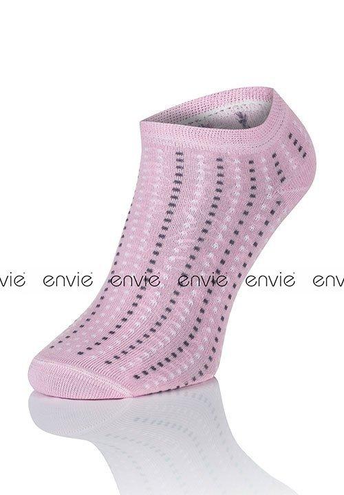 ENVIE MULTI DF01 PINK różowe stopki zakostki w kolorowe kropeczki