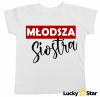 Koszulki dla rodzeństwa Starszy brat/młodsza siostra