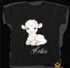 Koszulka baranek dla chłopca i dziewczynki + wybrane imię