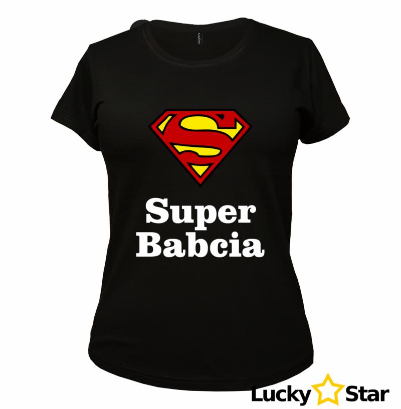 Koszulka Damska Super Babcia