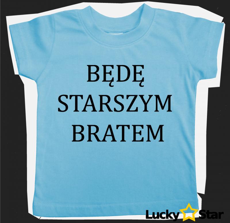 Koszulka dziecięca Będę starszym bratem