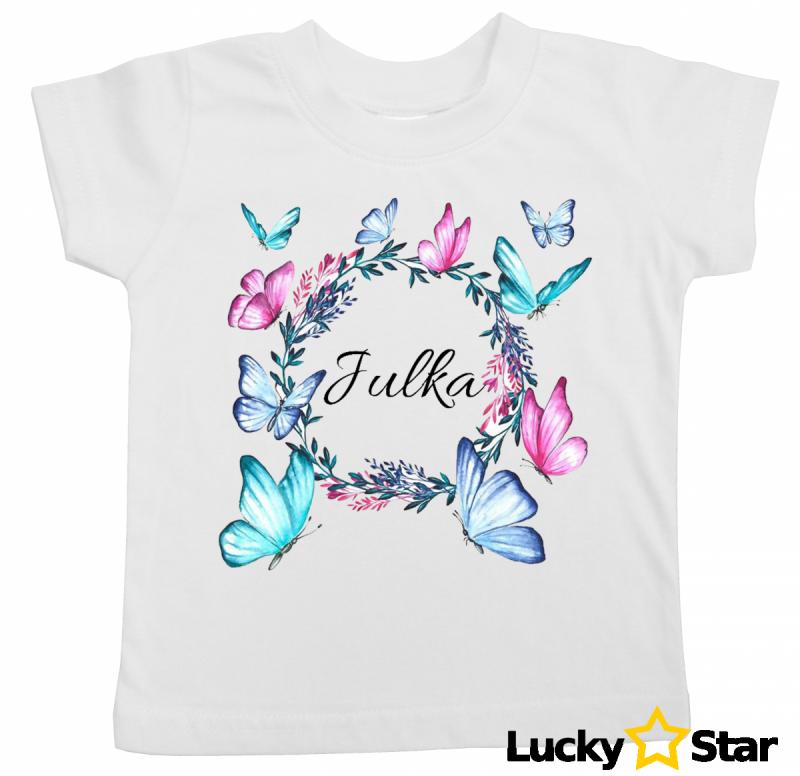 Koszulka dziecięca motylki + wybrane imię