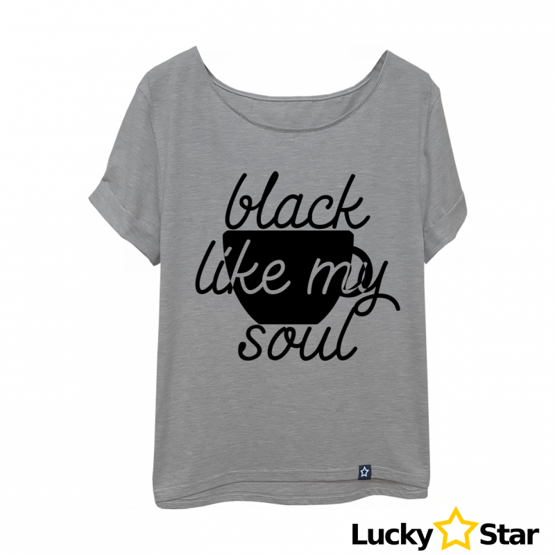 Koszulka Damska oversize Black my soul...