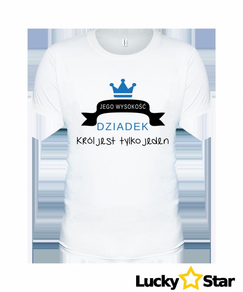 Koszulka Męska Jego wysokość DZIADEK