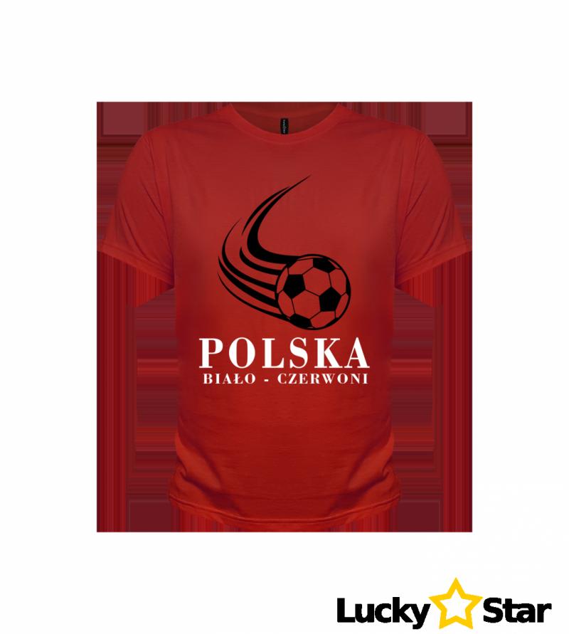 Koszulka Męska POLSKA Biało-Czerwoni