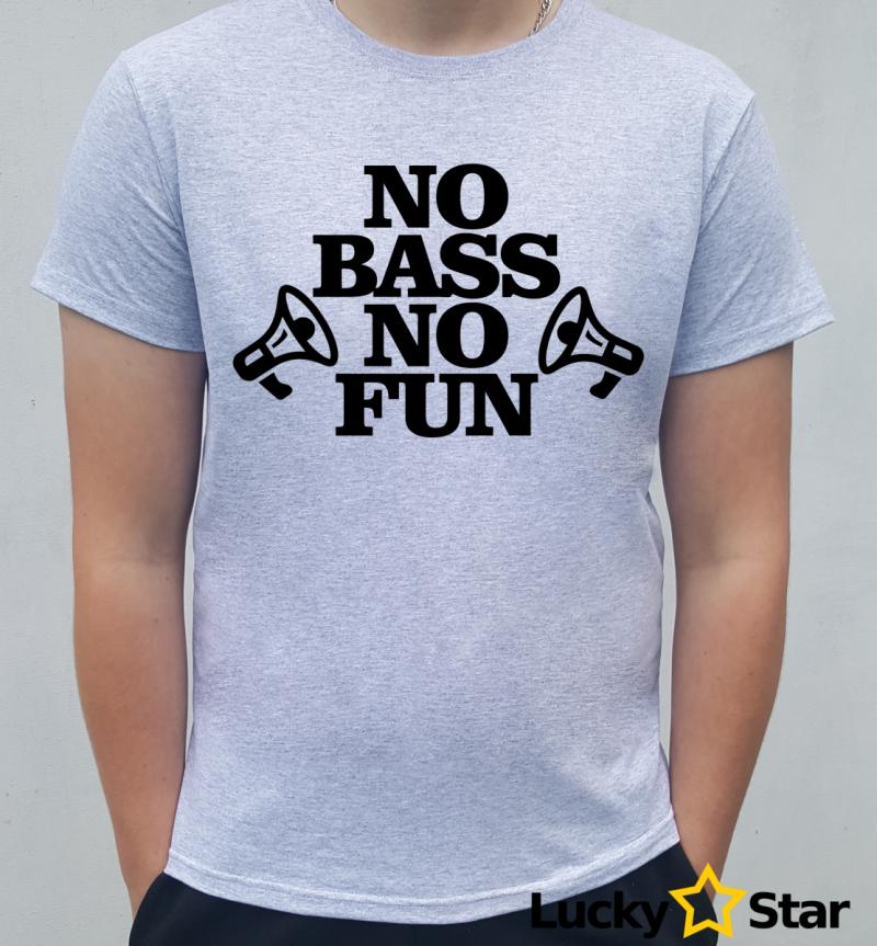 Koszulka Męska No bass no fun