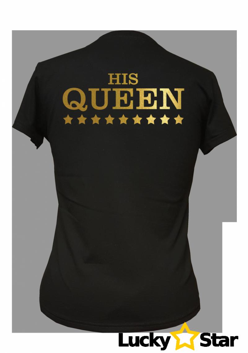 Zestaw koszulek dla par THE KING HIS GUEEN