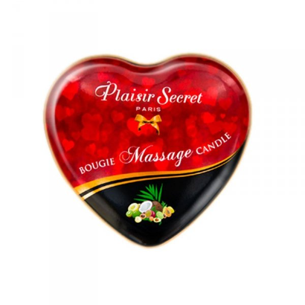 Świeca do masażu erotycznego o zapachu owoców egzotycznych