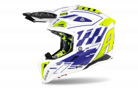 AIROH KASK OFF-ROAD AVIATOR 3 RAMPAGE BLUE GLOSS