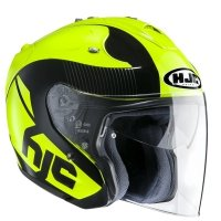KASK OTWARTY HJC FG-JET ACADIA BLACK/FLUO YELLOW