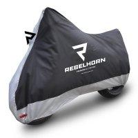 REBELHORN Pokrowiec na motocykl Cover II Black/Sil