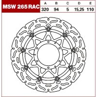 TRW Tarcza hamulcowa MSW265RAC HONDA CBR 1000 Fir
