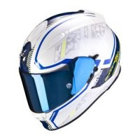 SCORPION KASK INTEGRALNY EXO-510 AIR OCCULTA PEARL WHITE BLUE