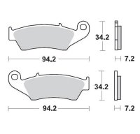 KLOCKI HAMULCOWE KH185 / KH389 METALICZNE: 11 HONDA: CR 125-250-500, CRF 450, XR 400-600-650R, K MOTO-MASTER M093411