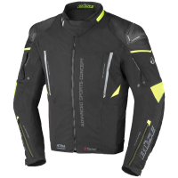 BUSE Kurtka motocyklowa  Rocca czarna/neonowo-żół