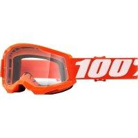 100 PROCENT GOGLE STRATA 2 YOUTH ORANGE CLEAR