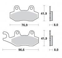 KLOCKI HAMULCOWE KH135 / KH214 METALICZNE: 12 KAWASAKI: KX 125-250-500, KDX 200-250, SUZUKI: RM MOTO-MASTER M091912